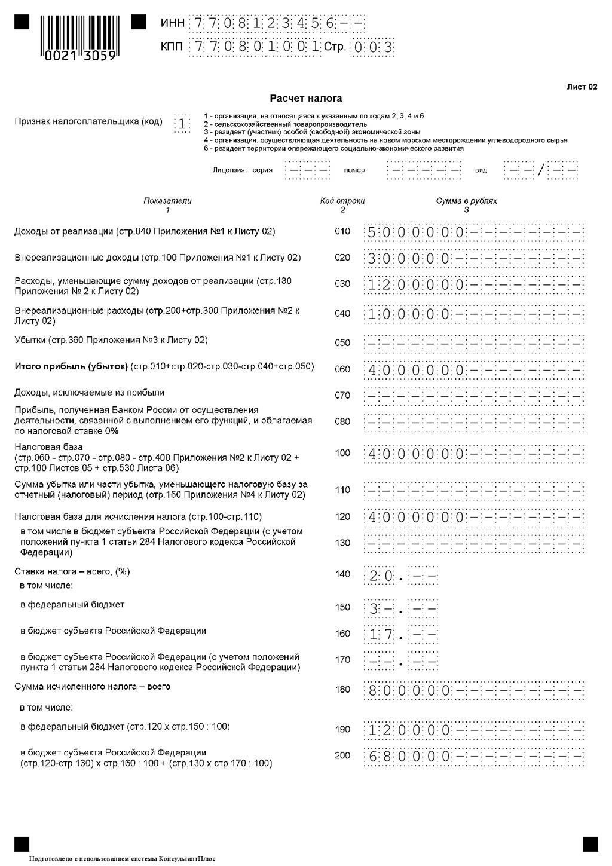 Декларация по налогу на прибыль за 1 квартал 2019